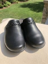 Women's Clarks Leisa Carly Soft Cushion Mule Shoes US Black Leather Size 6M