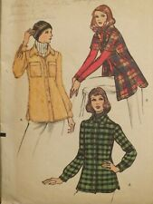 Amazing VTG 70s VOGUE 7670 Misses Shirt-Jacket PATTERN 12/34B