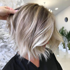 9A Bob Human Hair Full Lace Wig 100% Human Hair Balayage ash blonde Virgin Wigs
