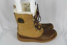 Sorel Mens CHUGALUG Brown Leather Faux Fur Lace Up Boots Sz 12 NWOB - NM1866-280