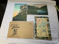 Vintage Giant Size Postcard 1940s Old Man of the Mountain New Hampshire + others