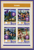 Niger 2017 MNH Boy Girl Scouts Scouting Olave Baden-Powell 4v M/S Stamps