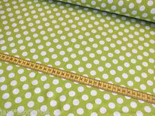 Baumwolljersey Tupfen Punkte maigrün weiß Meterware Kinderstoff Damenstoff
