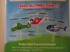 Rescue Flying Helicopter Toy--Rubber Band Powered- ->We combine shipping< GUI11A