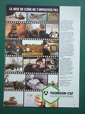 6/1985 PUB THOMSON CSF ELECTRONIQUE MILITAIRE TRC RADIO MISSILE FRENCH AD