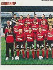 N°401 EQUIPE TEAM 1/2 GUINGAMP VIGNETTE PANINI FOOTBALL 99 STICKER 1999