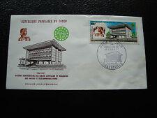 CONGO - enveloppe 1er jour 13/11/1971 (enveloppe tachee) (cy29)