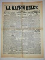 N853 La Une Du Journal La Nation belge 11 janvier 1919 les batailles de Berlin