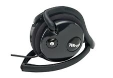BRAND NEW TRUST GAMER HEADPHONE HS-0410P BLACK LIGHTWEIGHT STEREO FREE POSTAGE
