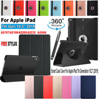"""New Case for Apple iPad 7th Gen 10.2"""" 2019 360 Rotation Leather Flip Smart Cover"""