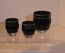 3 TINY SANKYO PRONON D MOUNT LENSES for CINE CAMERAS 25mm f1.8 13mm f1.8 6.5mm f