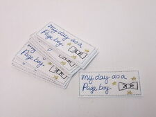 Set of 10 - Embroidered My Day As A Page Boy Card Bag Making Motifs Patch #18A62
