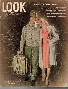 1945 LOOK January 9 Predictions; Adm. Nimitz; Danny Kaye; Gregory Peck; St Louis