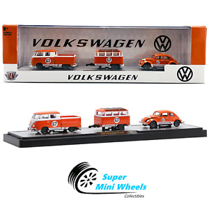 M2 Machines 1:64 - 1960 VW Double Cab Truck USA Model & 1967 VW Beetle Deluxe