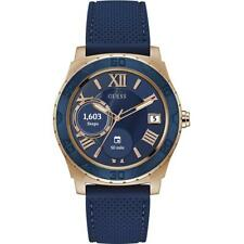 Guess Connect Unisex 44mm Digital Rose Gold and Blue C1001G2 Watch RRP £279