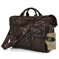 Men's Genuine Leather Briefcase Shoulder bag Handbag Purse Tote Messenger Bags