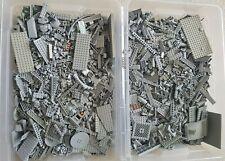 Lego 1 KG HELLGRAUE STEINE PLATTEN SONDERTEILE Kiloware Sammlung Konvolut