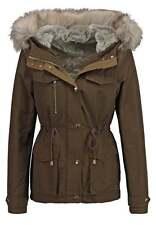 TOPSHOP 'Jaxson' Damen Winterjacke Gr. 44 Jacke Fleece Khaki Grün D750