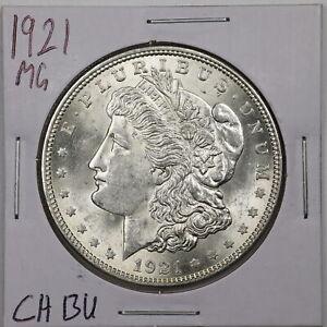 1921 $1 Morgan Silver Dollar in Choice BU Condition #05761