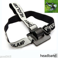 Elastic Headband/Helmet Strap Mount Head Strap For LED Headlamp/Head Bike Light