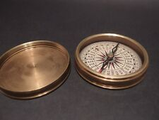 "Vintage Antique Style 3"" Brass Heavy Maritime Navigational Compass"