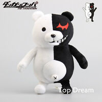 Danganronpa Monokuma Plush Doll Stuffed Animal Toy 10'' White Black Bear Teddy