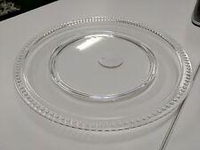 Waitrose-6 x Elegant Acrylic Beaded Clear Plastic Plates-Party Garden BBQ Picnic