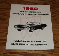 1969 Buick GS Skylark Illustrated Facts Feature Manual 69