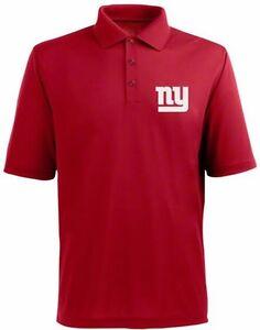 New York Giants NFL Team Apparel Red Dri Fit Polo Golf Shirt Big & Tall Sizes