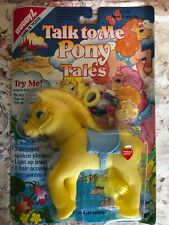 My Little TALK TO ME PONY TALES by Buddy L MOC 1991 YELLOW W/HAIR ACCESSORIES