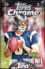 2010 Topps Chrome Factory Sealed Football Hobby Box  Gronkowski  Tebow  RC's  ??
