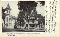 Thomaston CT ME Church & Parsonage c1905 Postcard