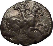 ASPENDOS in PAMPHYLIA 425BC RARE Silver Greek Coin Mopsos Horse Boar i53457