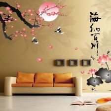 Chinese Art Style Plum blossoms & Lotus Flower Removable Room Wall Sticker Decal