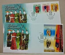 2006 Malaysia Traditional Costumes, 3v Stamps fdc + MS fdc (Melaka Cachet)