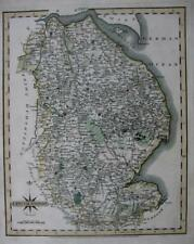 LINCOLNSHIRE  LINCOLN GRIMSBY  BOSTON    BY JOHN CARY GENUINE ANTIQUE MAP  c1793