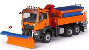 CON81206/0 - Camion communal avec lame de déneigement, saleuse et grue de déchar