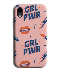 Pink Girl Power Phone Case Cover Pattern Lipstick Girls Lips Style Feminist E597