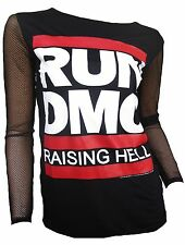 AMPLIFIED Official RUN DMC Raising Hell Hip Hop Rock Star Designer T-Shirt g.M