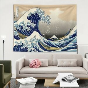 Japanese Wave Tapestry Wall Hanging Tapestries Kanagawa wall Art HomeDecor Retro