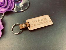 Personalised 60mmx18mm Your name//message added Hardwood keyring £1-00 each+post
