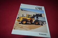 Volvo L70E Wheel Loader Dealer's Brochure DCPA6