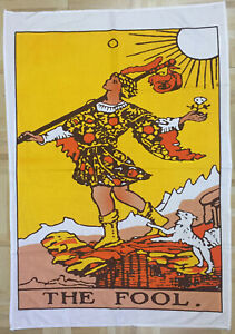 The Fool Tarot Card Design Small Poster Wall Hanging Tapestry Cotton Fabric Art