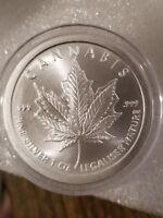 1 oz .999 fine silver Cannabis Silver Shield marijuana, pot, legalize it 2018