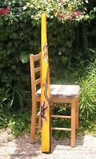 "47""120cm DIDGERIDOO+Bag+Beeswax Mouthpiece * Teak Wood Artwork Dot-Paint SNAKE"