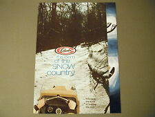 Vintage Columbia Snowmobile Brochure