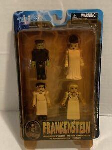 "2011 Diamond Select MiniMates ""Frankenstein"" 4 Pack Figures Opened Package Wear"