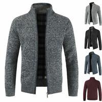 Warm Thicken Coat Sweater Winter Knitwear Pullover Men's Zipper Casual / Glove