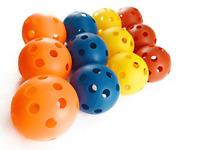 Wiffle Ball Softball Hollow Plastic Baseballs Multicolored Lightweight Sports