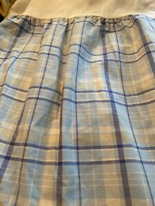 Laura Ashley Emilie Bedskirt Blue Plaid